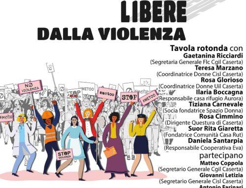 Donne libere dalla violenza – iniziativa unitaria Cgil, Cisl, Uil