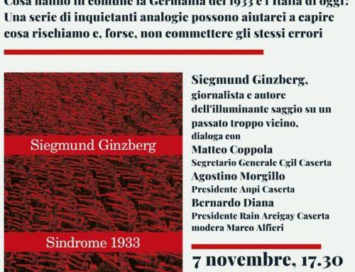 """Presentazione Libro """" Sindrome 1933 """"  Siegmund Ginzberg"""